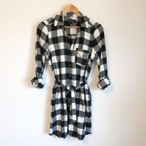 Abercrombie & Fitch plaid flannel tunic dress Sz.M